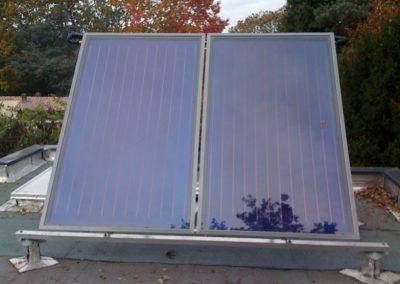 Panneau thermique sur toit terrasse