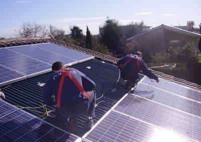Panneau photovoltaïque sur toit