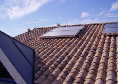 Panneau thermique sur toit